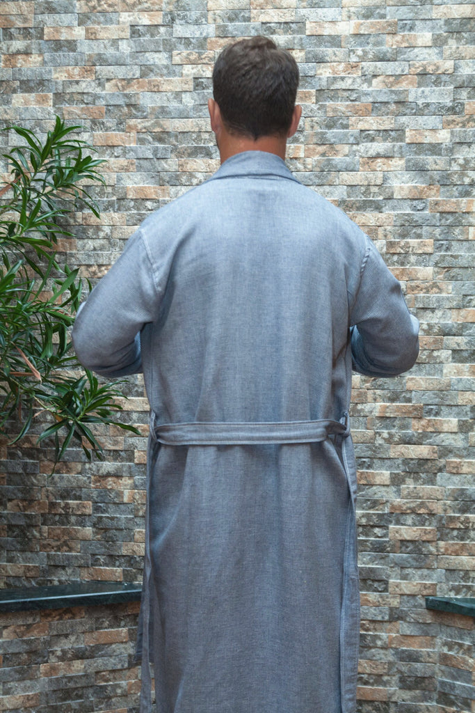 Ton-Sur-Ton Collection Bathrobe – Navy