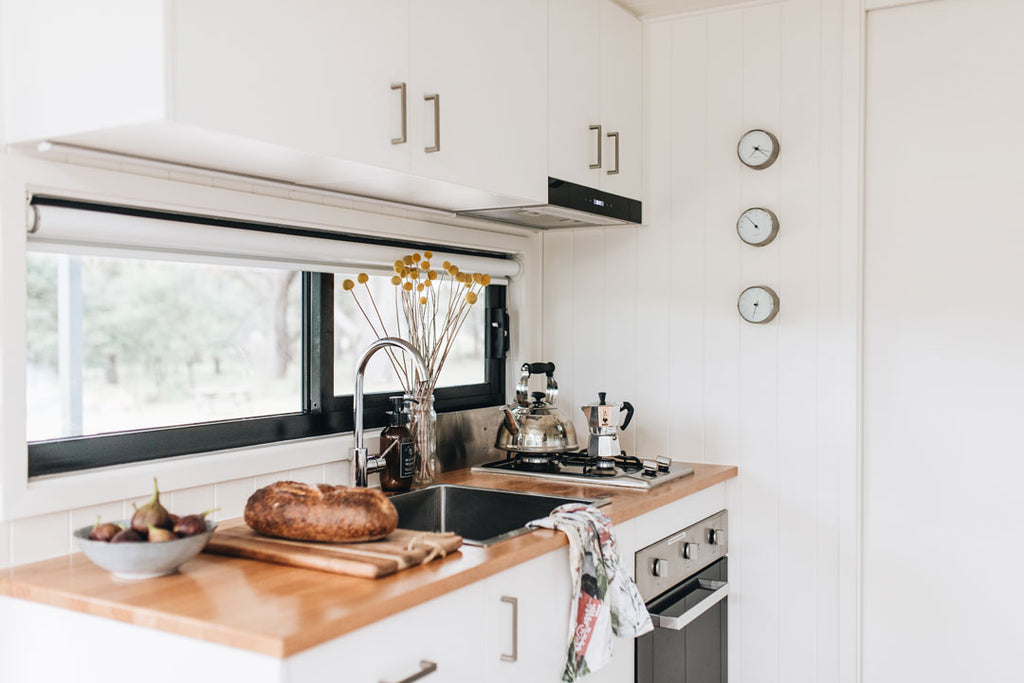 The kitchen at Wildernest Tiny House