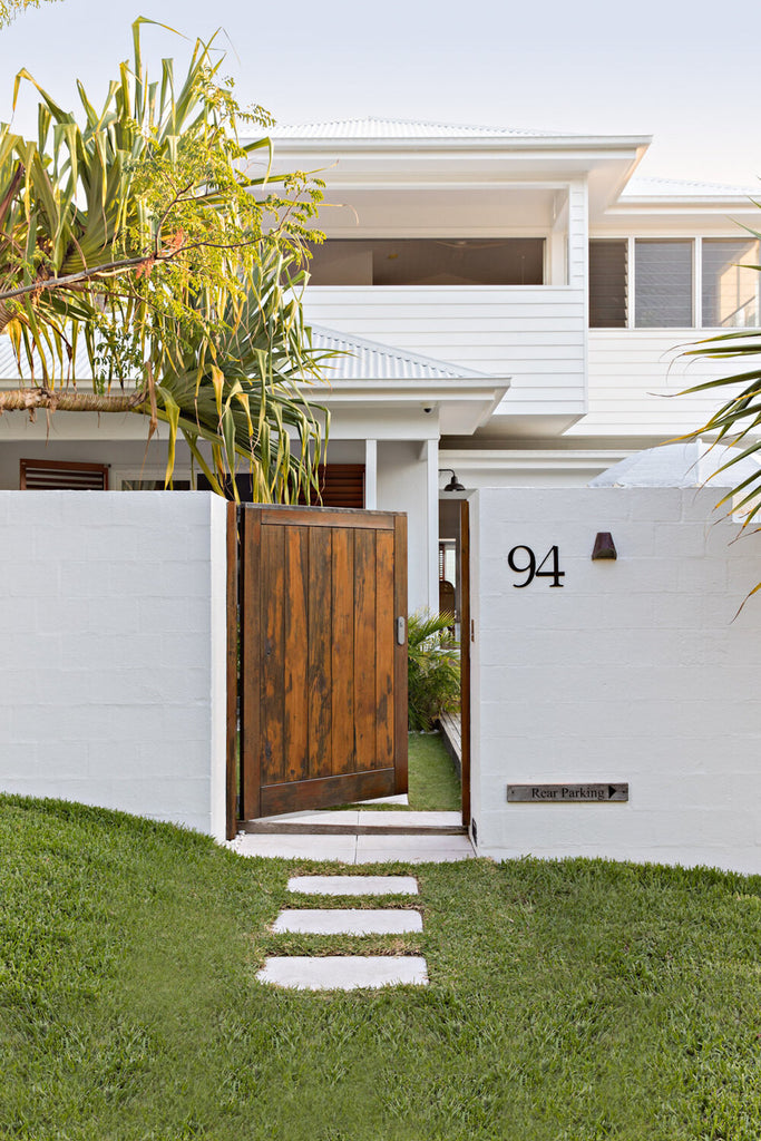 The entrance to The Cape Beach House in Byron Bay
