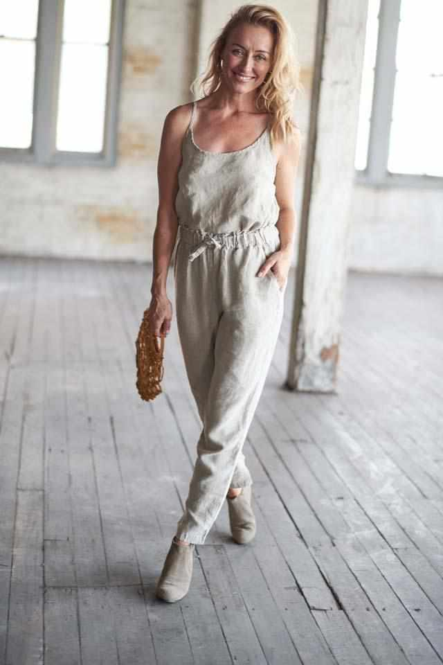 Gray The Linen Lounge Pants - Natural Natural / S/M,Natural / M/L,Natural / XL