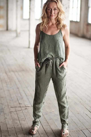 Gray The Linen Lounge Pants - Khaki Khaki / S/M,Khaki / M/L