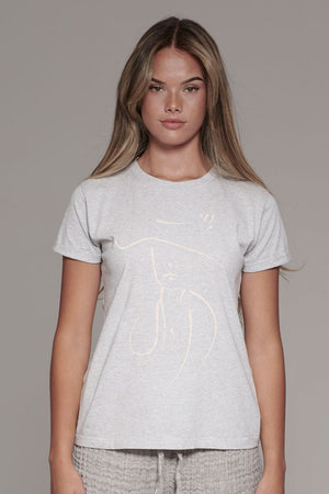Eadie Lifestyle Purposeful Organic T-Shirt in Grey featuring the peru Drawing for International Women's Day