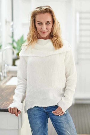 Beige The Linen Baron Top - White White / S/M,White / M/L