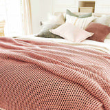 Beige Abrazo Throw - Rose Dust Rose Dust / Rectangle: 200x140cm