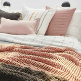 Sienna Abrazo Throw - Rose Dust Rose Dust / Rectangle: 200x140cm