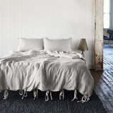 French Linen Quilt Cover - Silver Grey