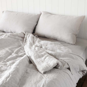 Linen Pillowcase - Silver Grey