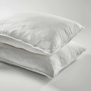 White Euro Linen Pillow Case Set