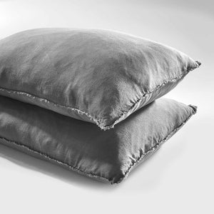 Slate Euro Linen Pillow Case Set
