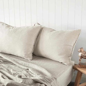 Natural Euro Linen Pillow Case Set
