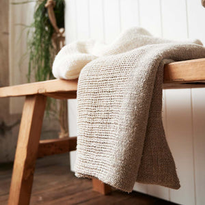 Eadie Lifestyle's Mayla 100% Linen bath Towel in Natural