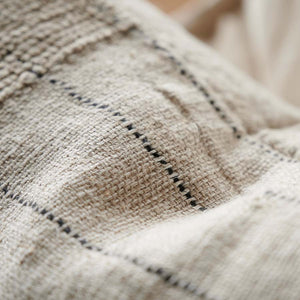 Eadie Lifestyle Mayla hand woven linen cotton cushion with button closure on the reverse side