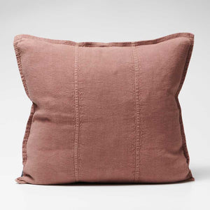 Luca Linen Cushion in Desert Rose colour crafted from 100% pre washed linen