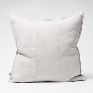 Luca Linen Cushion in silver grey crafted from 100% pre washed linen