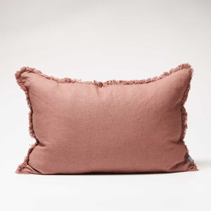 Luca Boho Linen Cushion - Desert Rose