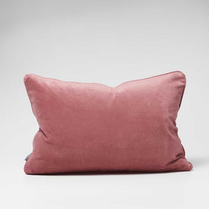 Lynette Velvet Cushion - Dusty Mauve
