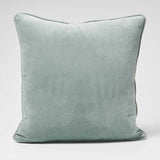 Lynette Velvet Cushion - Sea Mist