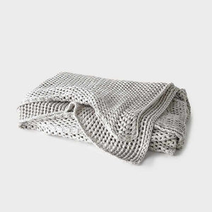 Gray Abrazo Throw - Silver Grey Silver Grey / Rectangle: 200x140cm