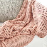 Tan Abrazo Throw - Rose Dust Rose Dust / Rectangle: 200x140cm