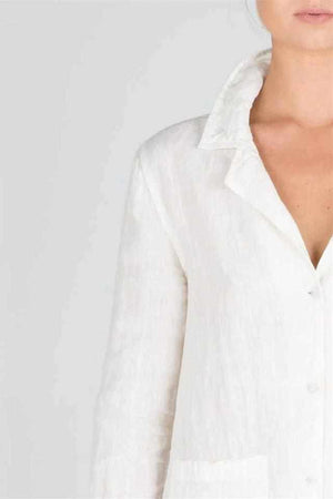 Lavender The Essential Linen Shirt - White White / S/M,White / M/L,White / XL