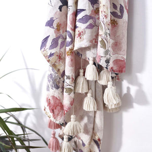 Posy Linen Throw