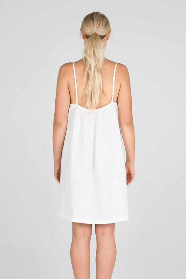 Tan The Linen Slip - White White / S/M,White / M/L