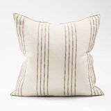 Eadie Lifestyle's Rockpool Cushion in Natural/Organic stripe