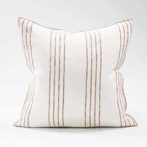 Rockpool Linen Cushion with Organic Textures Stripe