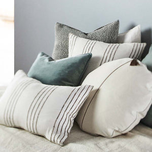 Eadie Lifestyle White Circlyn Velvet Cushion on bed