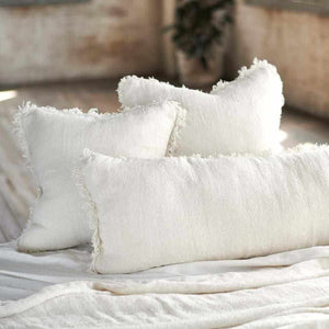Ivory Bedouin Long Lumber Linen Cushion