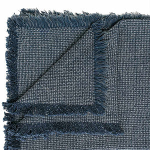 Chelsea Throw - Navy Bedroom Throw Navy Rectangle: 180x150cm