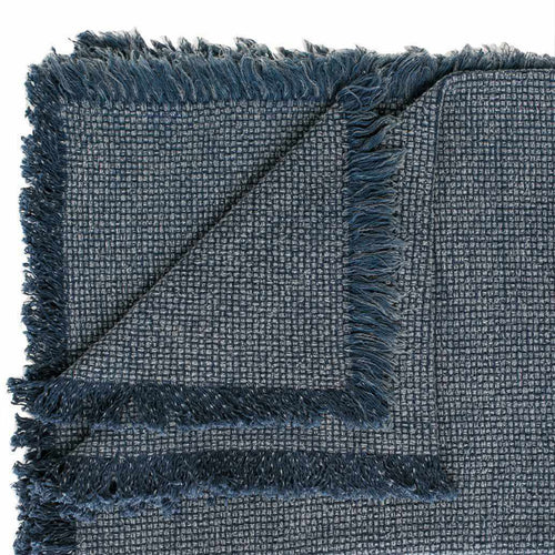 chelsea throw fringe cotton sulphur wash finish navy by eadie lifestyle