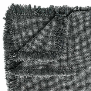 Chelsea Throw - Slate Bedroom Throw Slate Rectangle: 180x150cm