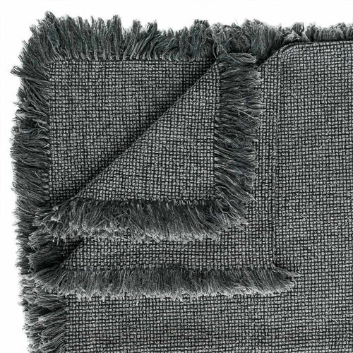 chelsea throw fringe cotton sulphur wash finish slate by eadie lifestyle