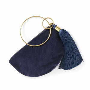Bangle Purse - Navy Apparel Bags and Accessories
