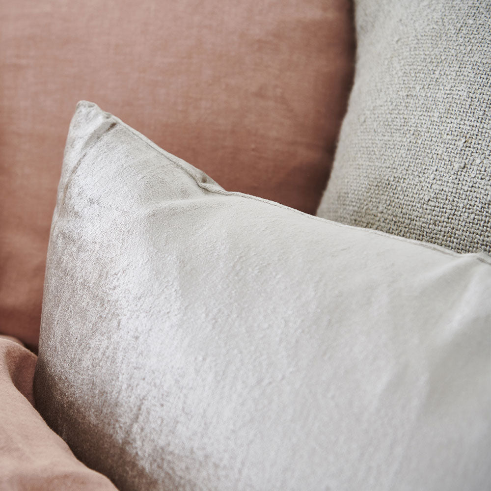 Precious Velvet Cushion in soft gold with 100% feather filled insert
