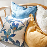 Eadie Lifestyle Luca Cushion in blue azure