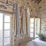 Rosy Brown Luca Boho Linen Curtain - White White / Rectangle: 140x260cm