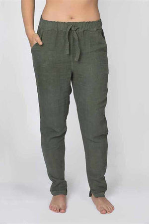 Dark Slate Gray The Linen Lounge Pants - Khaki Khaki / S/M,Khaki / M/L