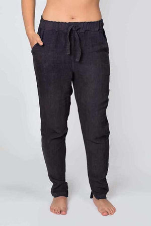 Dark Slate Gray The Linen Lounge Pants - Black Black / S/M,Black / M/L,Black / XL