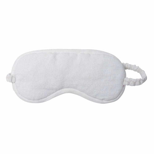 Luca (Linen) Eye Mask - White Apparel Bags and Accessories