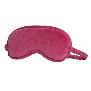 Lynette (Velvet) Eye Mask - Bright Pink Apparel Bags and Accessories