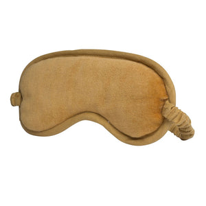 Lynette (Velvet) Eye Mask - Mustard Apparel Bags and Accessories