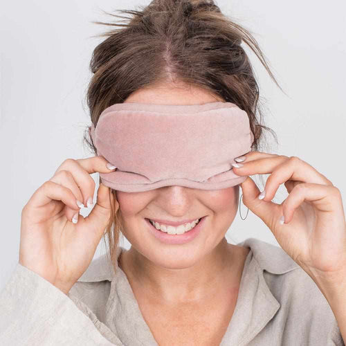 Lynette (Velvet) Eye Mask - Musk Apparel Bags and Accessories