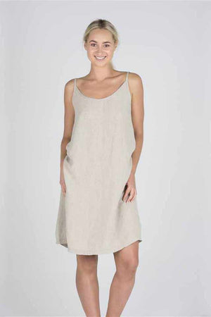 Light Gray The Linen Slip - Natural Natural / S/M,Natural / M/L