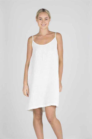 Light Gray The Linen Slip - White White / S/M,White / M/L