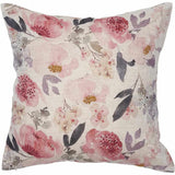 Light Gray Posy Linen Cushion Small Square: 50x50cm / Rose Floral,Large Square: 60x60cm / Rose Floral