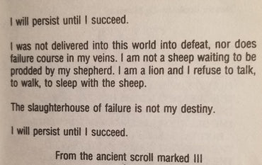 The Scroll Marked III: I will persist until I succeed