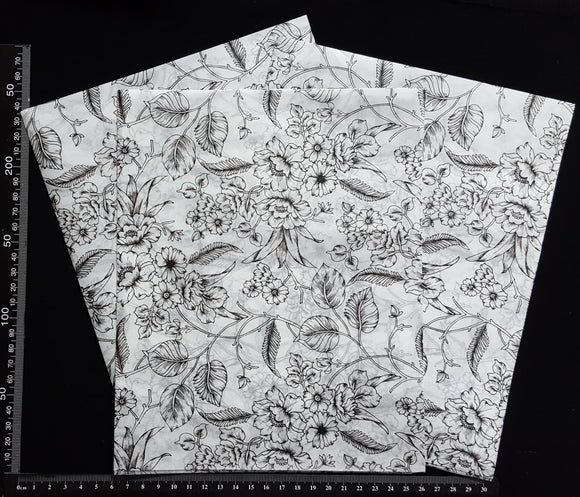Decoupage Tissue Sheets - F - Set of 3 Pieces