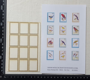 Faux Stamp Kit - Birds - Set One